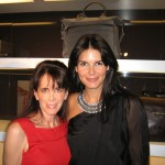 Julie Spira and Angie Harmon at the Bally Boutique in Beverly Hills