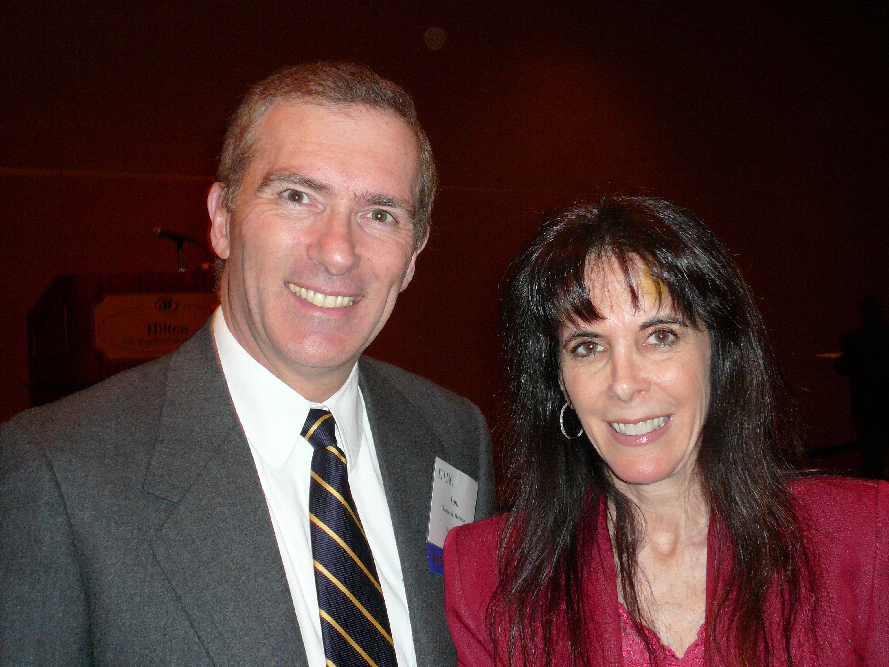IC President Tom Rochon with author, Julie Spira