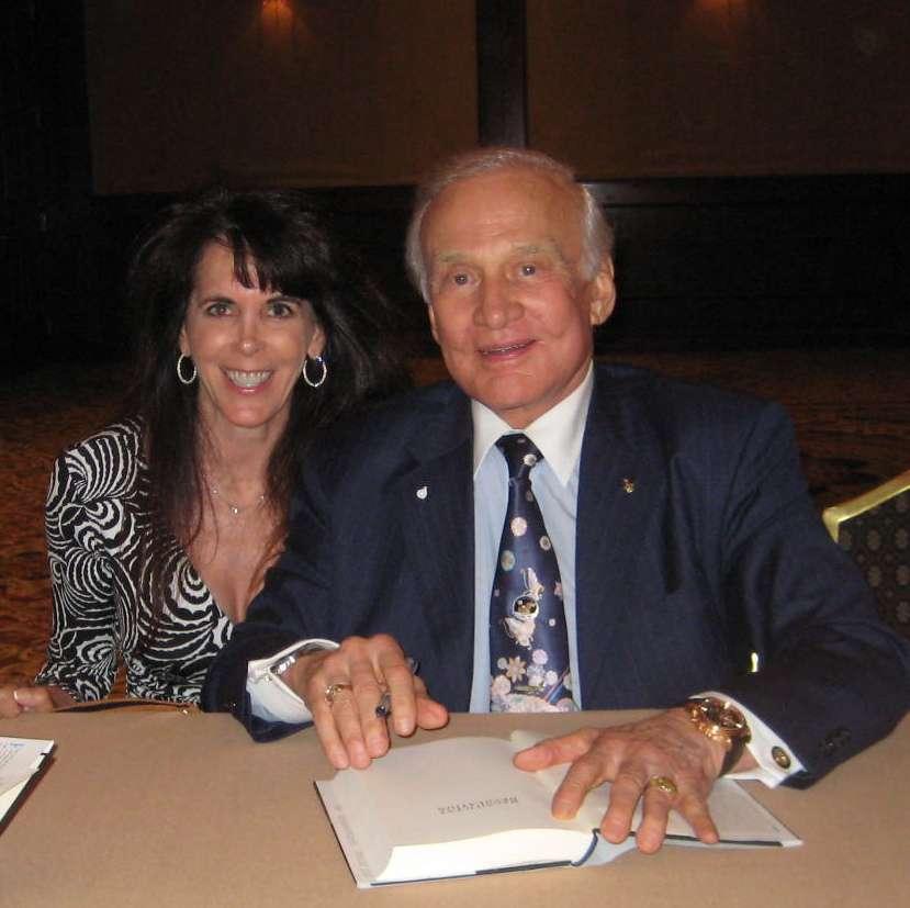 Julie Spira and Buzz Aldrin