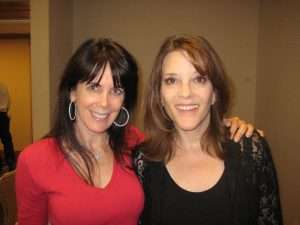 Julie Spira and Marianne Williamson