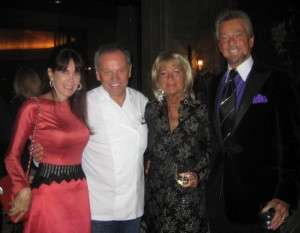 Julie Spira, Wolfgang Puck, Marcia and Steven J. Cannell