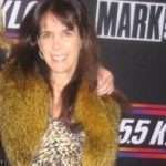 Julie at the KLOS Mark and Brian Christmas Show
