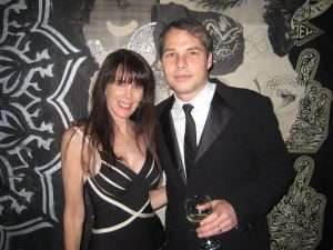Julie Spira and Shephard Fairey