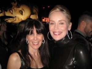 Julie Spira and Sharon Stone