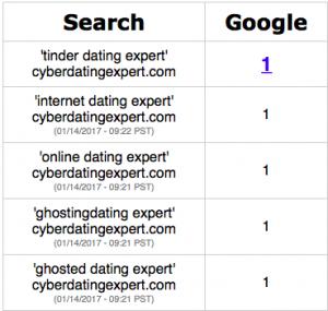 Cyber Dating Expert Google