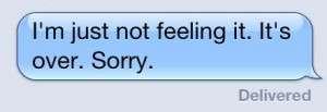 text message break up