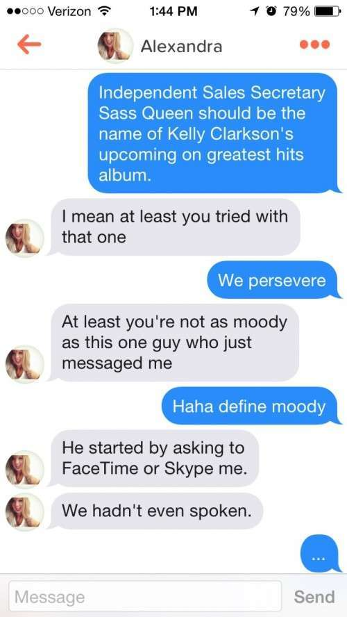 Tinder message