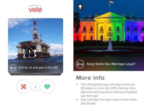 Tinder Swipe the Vote
