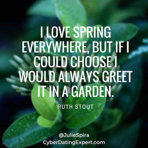 i love spring everywhere, but if i could choose i would always greet it in a garden.