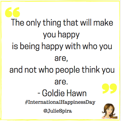 Happiness - Goldie Hawn