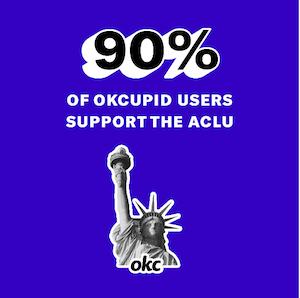 Ok Cupid ACLU Badge