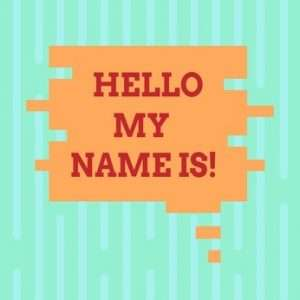 Dating Advice - What's Your Name