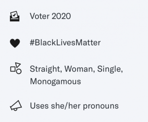 OkCupid voter badge
